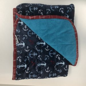$300 Twin Weighted Blanket (40x60 Inches) 19lbs Sailors Dream- Cuddle Minky Anchor Toss with Cuddle Turquoise- Hippo Hug Weighted Blankets- Compared a $335 Save $35