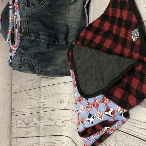 $235 Short Weighted Blanket (40x50 Inches) 7lbs Yahoo- One of a kind fabrics Cotton and Denim Comes with Jean Carrying Case- Hippo Hug Weighted Blankets-Compared at $295 Save $60