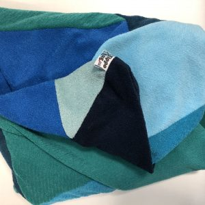 $75 Small Crash Mat - Blue And Teal- Hippo Hug Weighted Blankets
