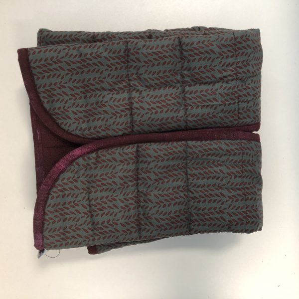 $135 Narrow_Shoulder Weighted Blanket (20x50 Inches) 10.5lbs Highland- Cotton Highland with Cuddle Burgundy- Hippo Hug Weighted Blankets- Compared at $165 Save $30