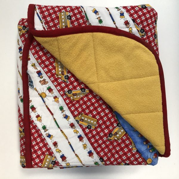 $235- Short Weighted Blanket (40x50) 7lbs Back to School- Fabric Custom Cotton with Saffron Cuddle- Hippo Hug Weighted Blankets- Compared at $250 Save $15- Most Popular Kids