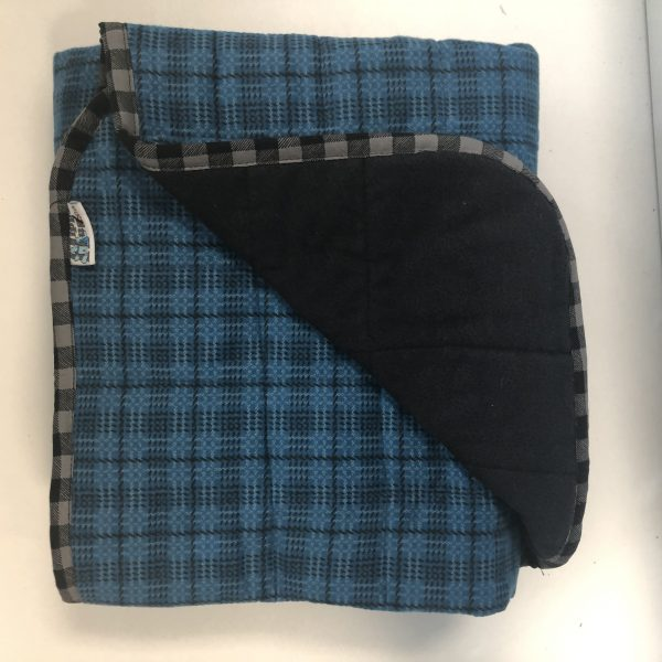 $350 Tall Weighted Blanker (40x70 Inches) 18lb Flannel Lover- Flannel Roped Plaid with Flannel Specs- Hippo Hug Weighted Blankets- Compared at $365 Save $15