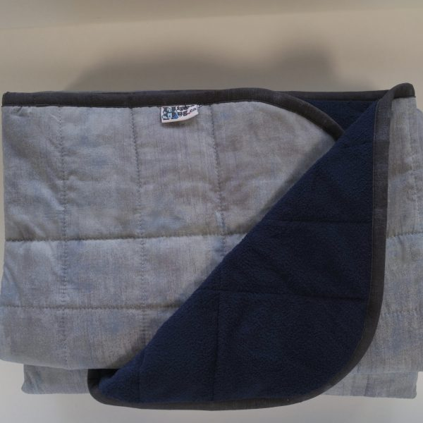 390-Wide-Tall-Weighted-Blanket-45x70-in-17.5-lbs-Vancouver-Cotton-Ash-and-Cuddle-Navy-Compare-at-410-save-20