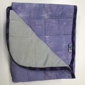 $235 Short Weighted Blanket (40x50) 7lbs - Lavender - Cuddle Pale Grey - compared at $245 save $10
