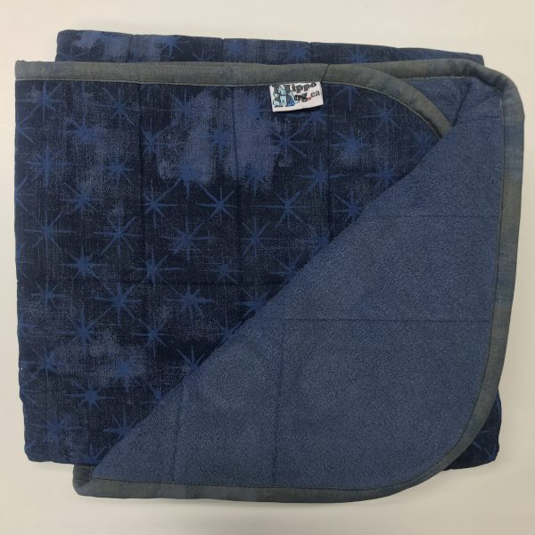 $235 Short Weighted Blanket (40x50) 9.5lbs -Blue Stars - Cuddle Navy - compared at $255 save $20