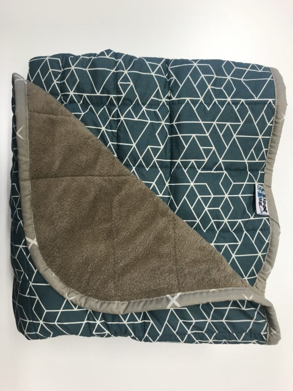$380 Wide Weighted Blanket (40x70) 31lbs - Geometric - Cuddle Mocha - compared at $425 save $45