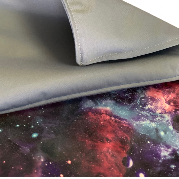 PUL / Water Resistant Fabrics in Light Grey and Galaxy Print