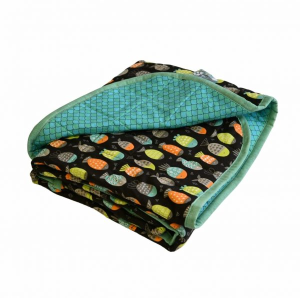 """I Sea Pineapple -11lb - 40x60""""- Weighted Blanket"""