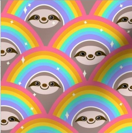 Mug Hug - Rainbow Sloths
