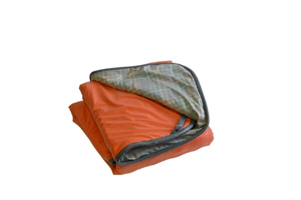 For Sale-Weighted Blanket-Seamless Waterproof-55x35 14lb-Orange w. grey background