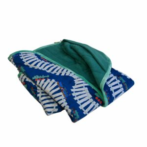 Weighted Blankets-Trains-Teal Background-20x50-4.5lbs