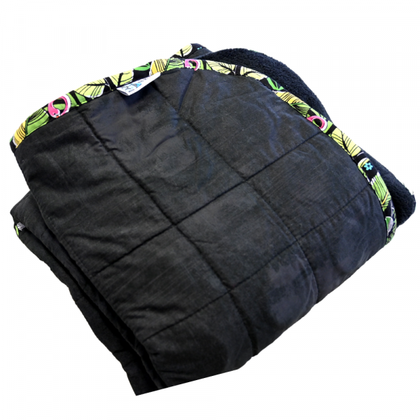 """Pitch Black - 18 lb - 40x50""""- Weighted Blanket"""