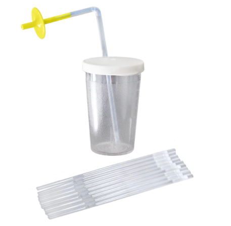 Sip-Tip with One-Way Straws